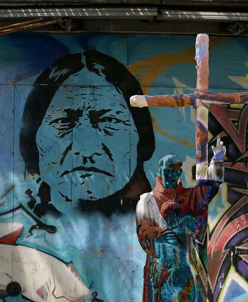 Sitting Bull and Father Serra
