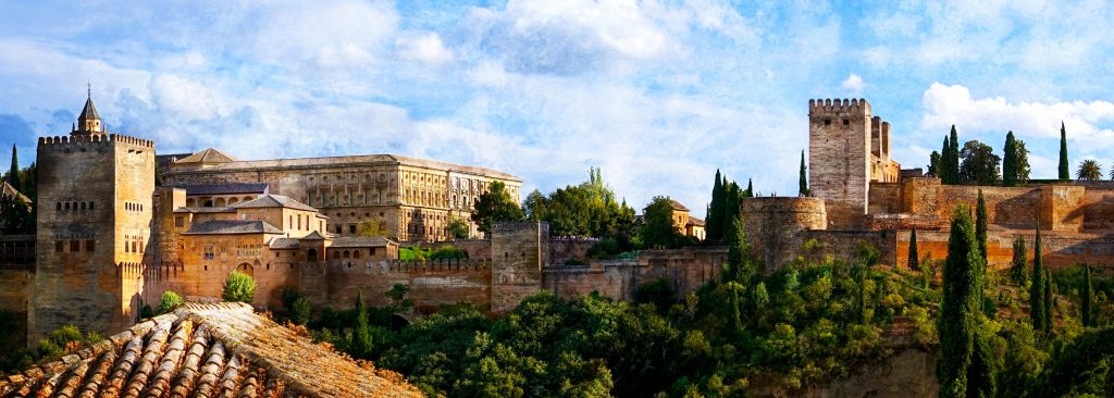The Sultan's 14th century Alhambra Palace in Grenada, Spain